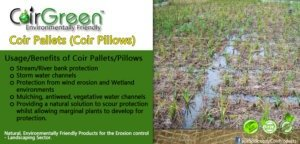 Coir Pallets – An environmentally friendly product from an environmentally friendly company
