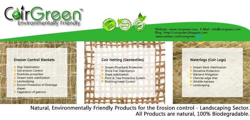 Eco-friendly and effective soil conservation products by CoirGreen